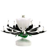 Black Musical Flower Birthday Candles
