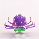 Purple Musical Flower Birthday Candles